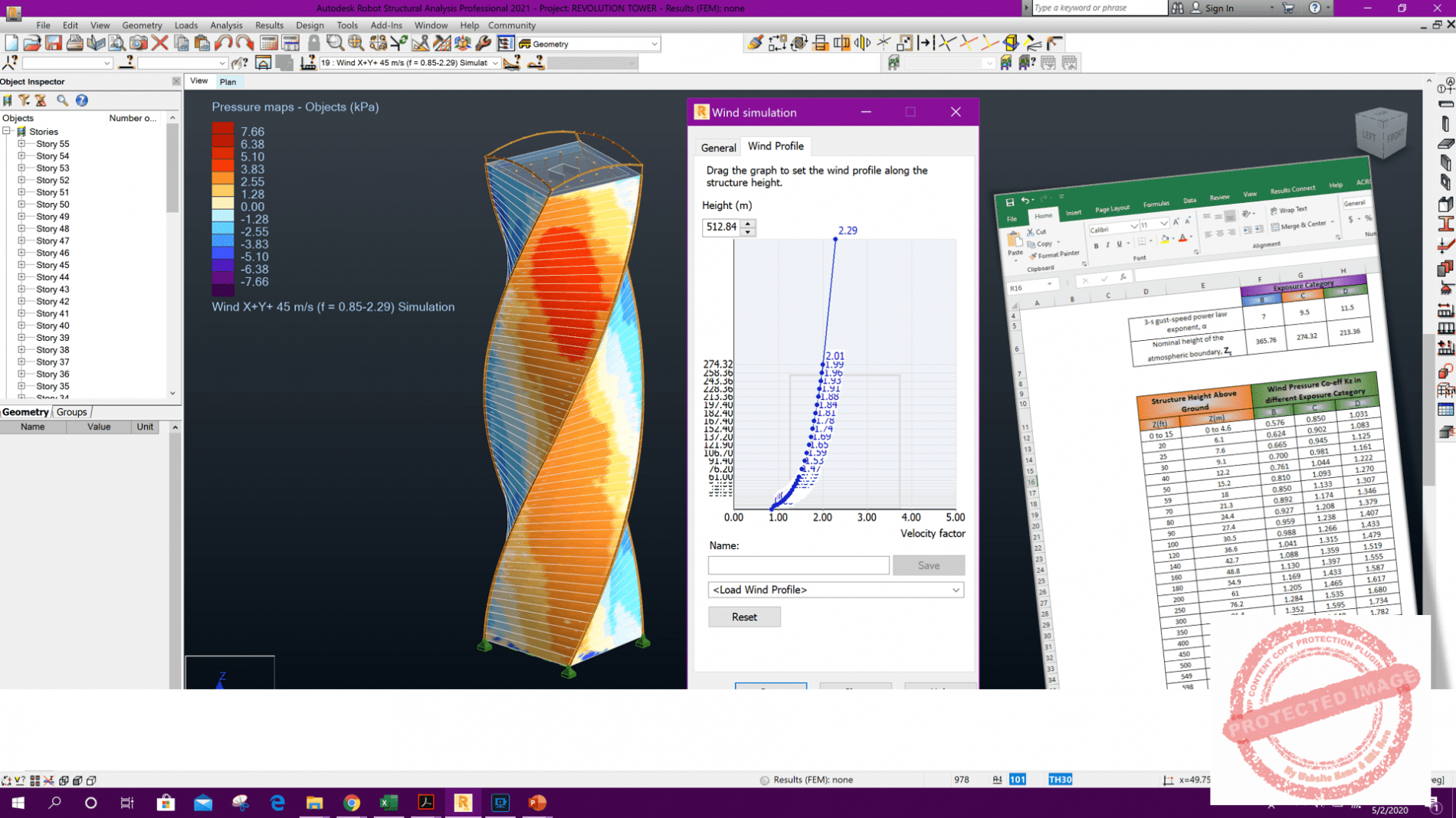Wind Tunnel Analysis for Complex Shaped Structure