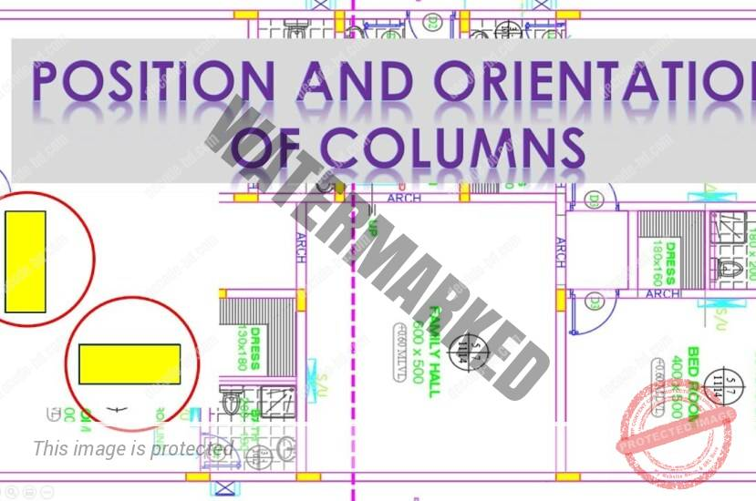 How to Place Columns in Building Plan: Choosing Position & Orientation
